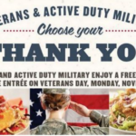 Applebees Veterans Day discount 2019