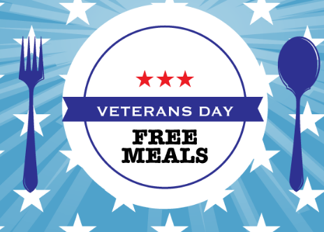 Veterans Day Free Meals for 2019
