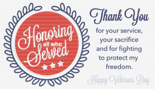 Veterans Day Cards 2019