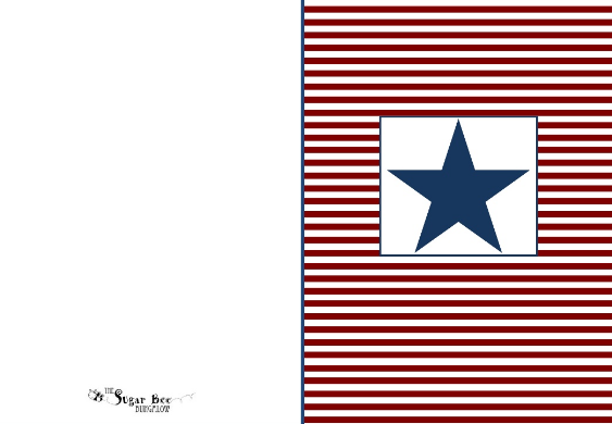 Veterans Day Cards Printable to Color