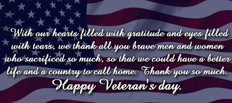 Thank You Message For Veterans Veterans Day 2021
