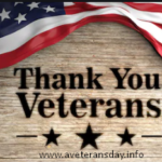 Veterans Day Thank You message 2020