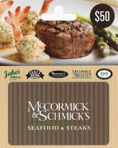 Mccormick and Schmick's Gift Card Deal
