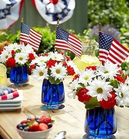 Veterans Day Table Decorations for school 2019