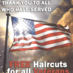 free haircuts for veterans on veterans day 2020