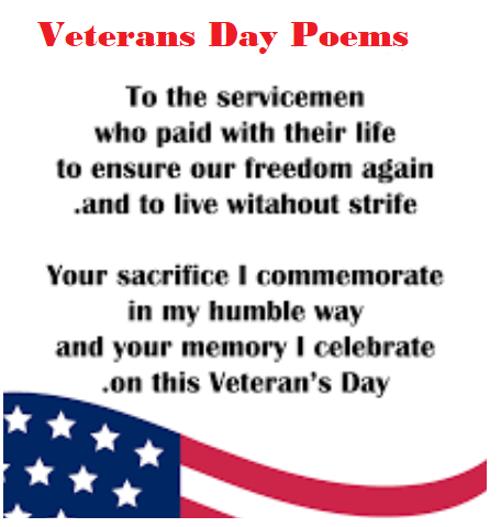 Famous Veterans Day Poems, Happy Veterans Day Poetry & Poem