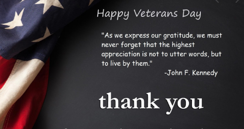 Veterans day thanks quotes