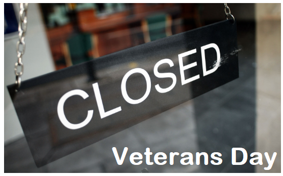 Are banks closed on Veterans Day 2020?